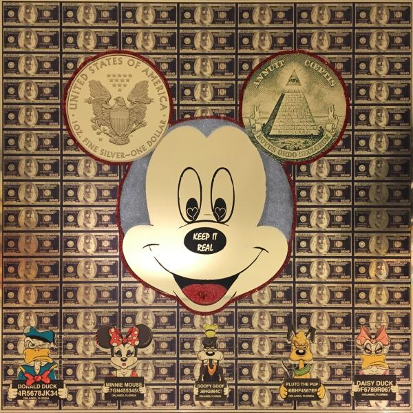 Van Apple - KEEP IT REAL MICKEY IN GOLD WITH Silver HAIR
