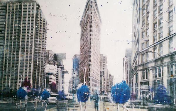 Angelo  Accardi - MISPLACED, OSTRICHS VISITING THE IRON BUILDING NY