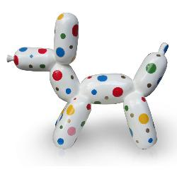 Balloon dog white color dots M